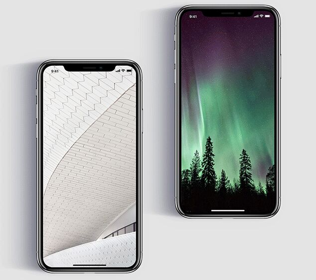 Photorealistic iPhone X PSD Template