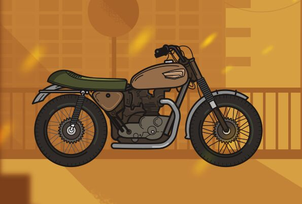 Vintage Motorcycle Vector Illustration