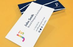 Minimal Business Card Template (AI+PSD)