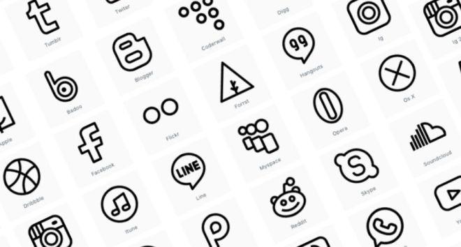 30 Vector Social Icons
