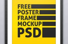 Customizable Wall Poster And Frame PSD Mockup