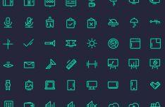 80 Elegant UI Icons Vector