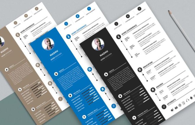 Minimal Elegant CV Resume And Cover Letter Mockup PSD