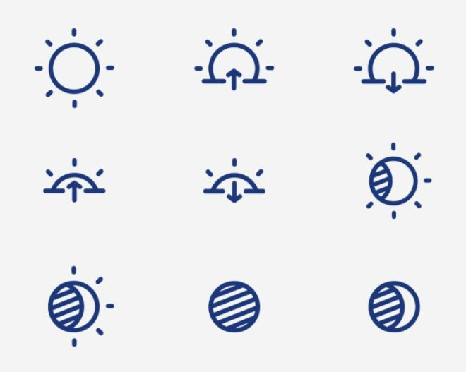 35 Elegant Vector Weather Icons
