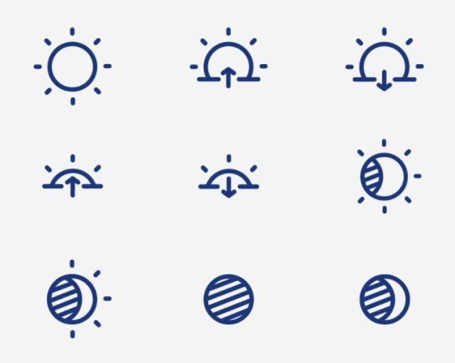 35 Elegant Vector Weather Icons