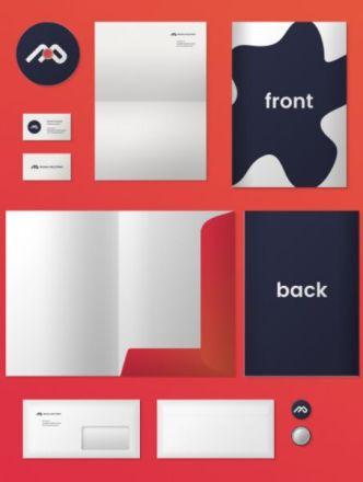 Minimal Corporate Branding PSD Mockup
