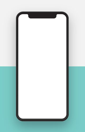 Realistic Blank iPhone X PSD Template