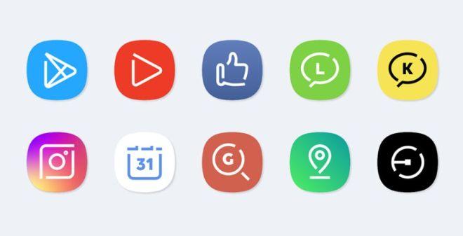 Galaxy S8 App Icons Vector