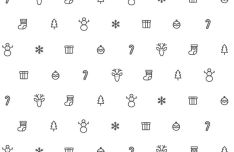 Christmas Icons Pattern Vector