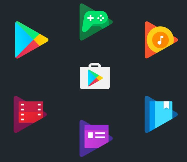 7 Google Play PSD Icons