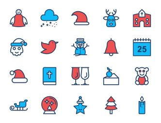 20 Lovely Christmas Icons (SVG+PNG)