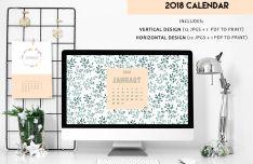 2 Print-ready Calendar 2018 Templates