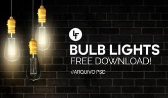 Realistic Bulb Lights Mockup PSD