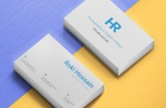 Editable Print-friendly Business Card PSD Mockup