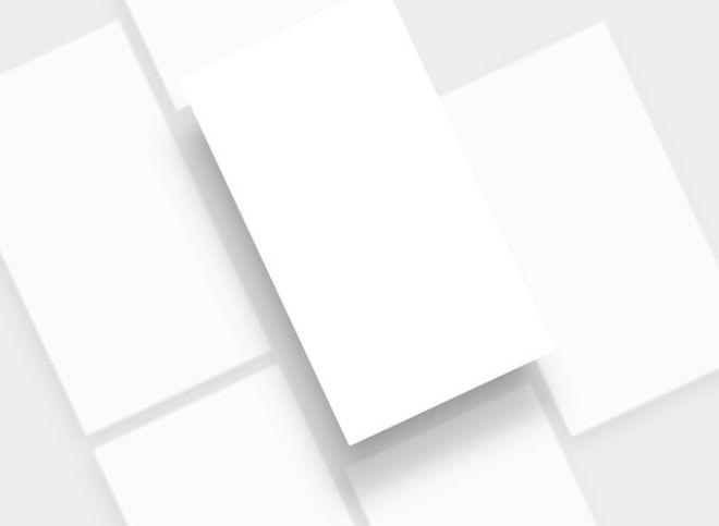 Minimal Blank Mobile App Mockup