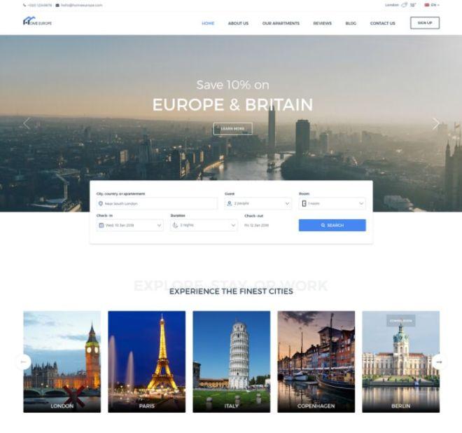 Minimal Real Estate Web Template PSD