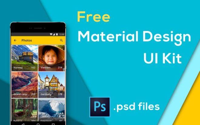 Fresh Material Design UI Kit (15 Screens)