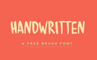 Handwritten Brush Font
