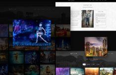 Plum Personal Website Template PSD