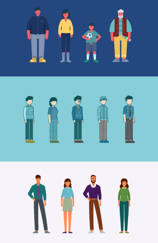 Flat Character Set Vector