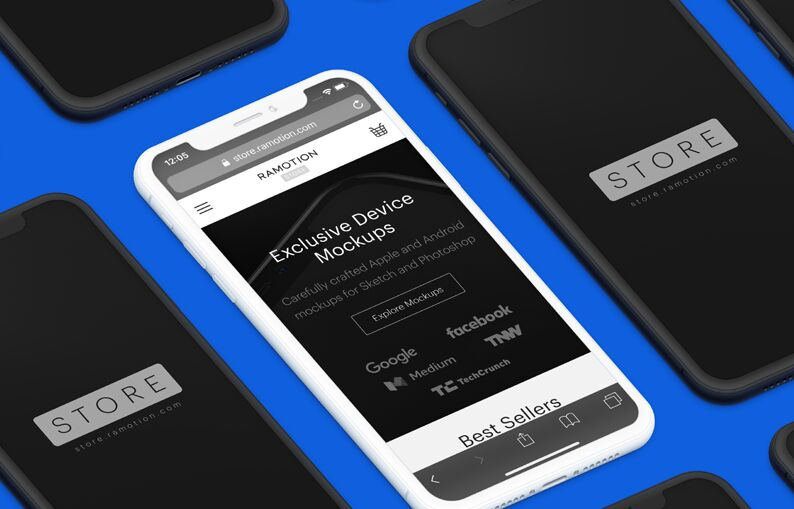 Free iPhone X Clay Mockup For Photoshop & Sketch - TitanUI