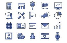 20 Minimal Office Vector Icons