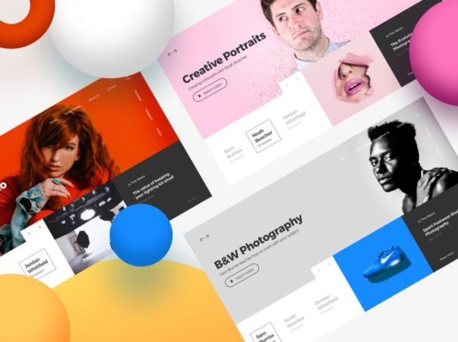 Photography Class Web Template For Sketch
