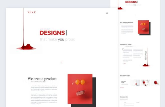 Next An Agency Landing Page PSD Template