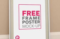 Clean Vertical Frame Poster PSD Template