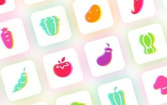 Lovely Vegetable Sketch Icons