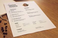 A4 Paper Resume CV Mockup PSD