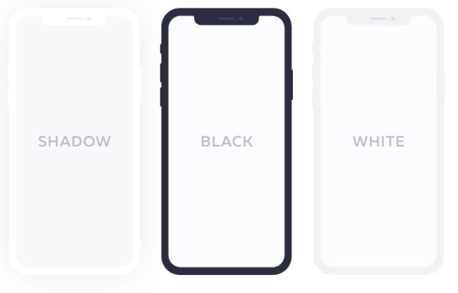 Flat Style iPhone X For PS And XD