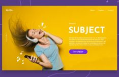 Music Landing Page Template For Sketch