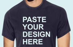 Realitic Men's T-shirt Mockup