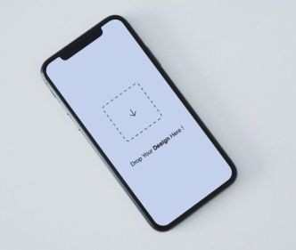 Minimal iPhone X Top View PSD Mockup
