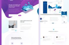Sellmor Landing Page Template For Sketch