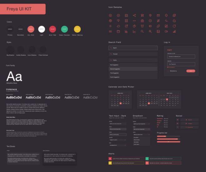 Freya UI Kif For Sketch App