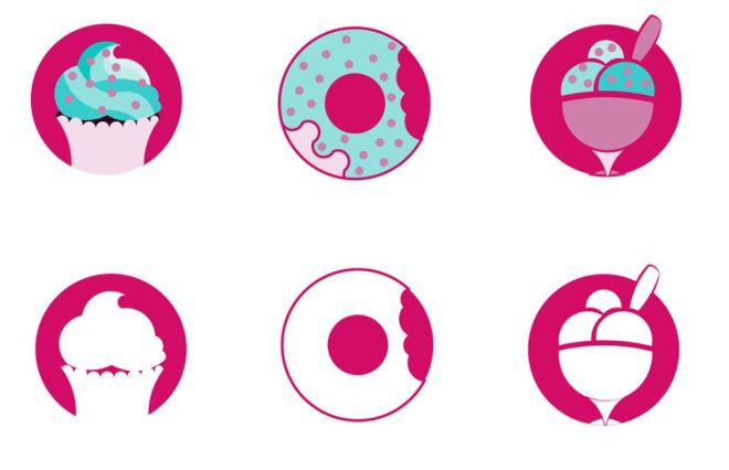 6 Dessert Icons (AI+PNG)