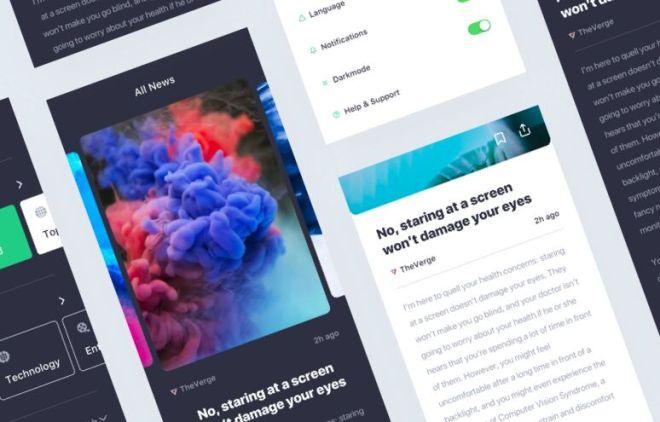 A Minimal News App UI Kit For Sketch - iNews
