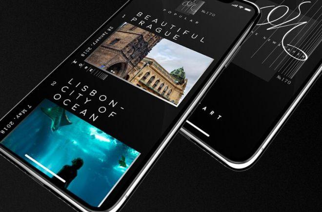 Online Newspaper Mobile App UI For Adoble XD