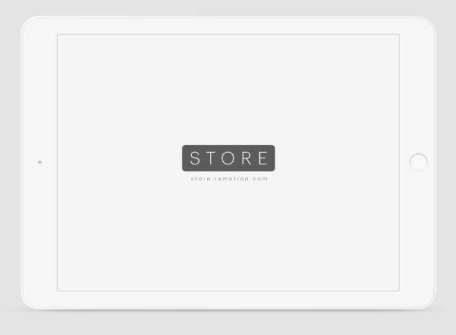 iPad Clay White Landscape PSD Mockup-min