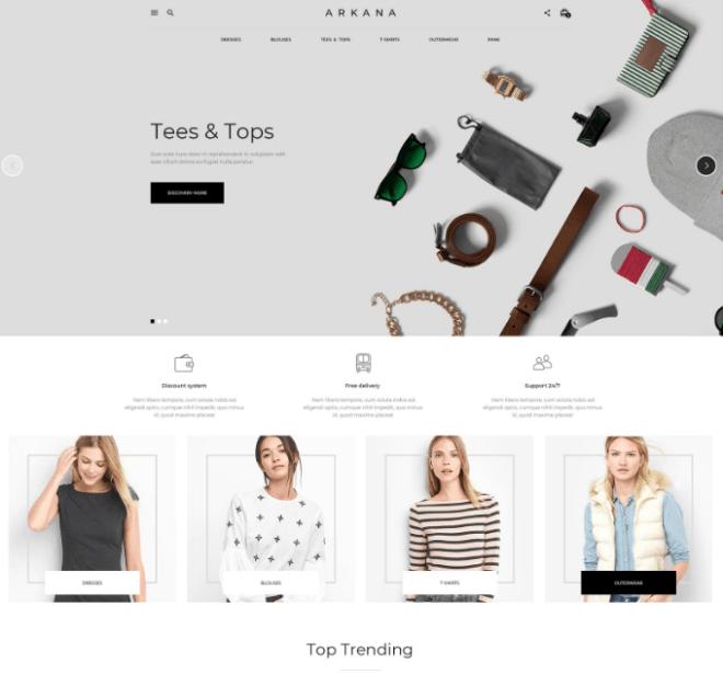 ARKANA Modern Clean E-commerce Web Template PSD-min