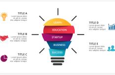Business Idea Bulb Infographic Template Vector-min