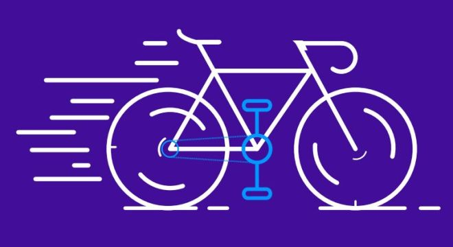 Bicycle Vector Line Icon-min