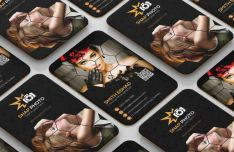 Vertical Photograhy Business Card Template PSD-min