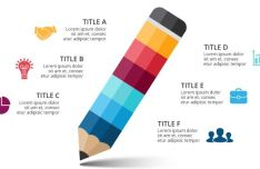 Pencil Vector Infographic Template-min