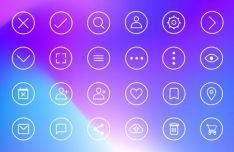 32 Circular UI Icons For XD-min