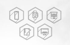 5 Apple Device Vector Icons