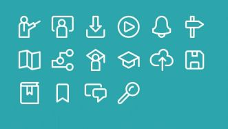 16 Education Vector Line Icons-min