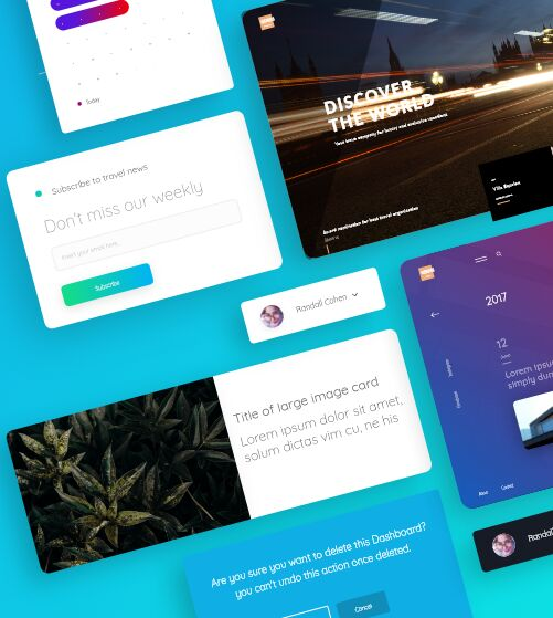 Genius UI Kit For Adobe XD-min